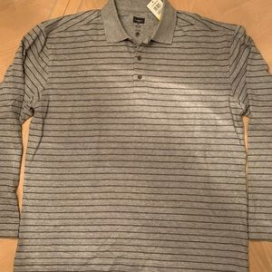 Men's Haggar Long Sleeve Polo Shirt NWT